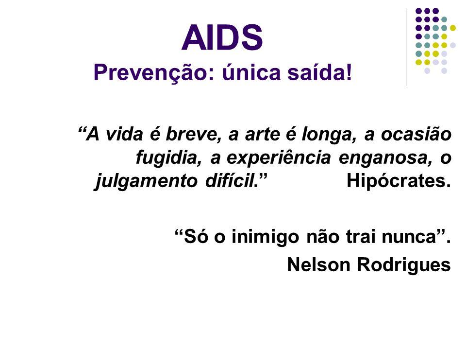 AIDS Prevenção: única saída!