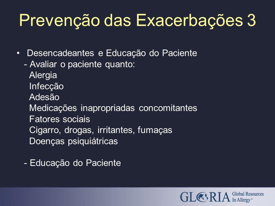 Prevenção das Exacerbações 3