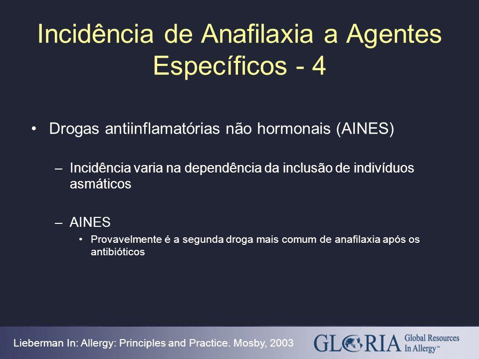 Incidência de Anafilaxia a Agentes Específicos - 4