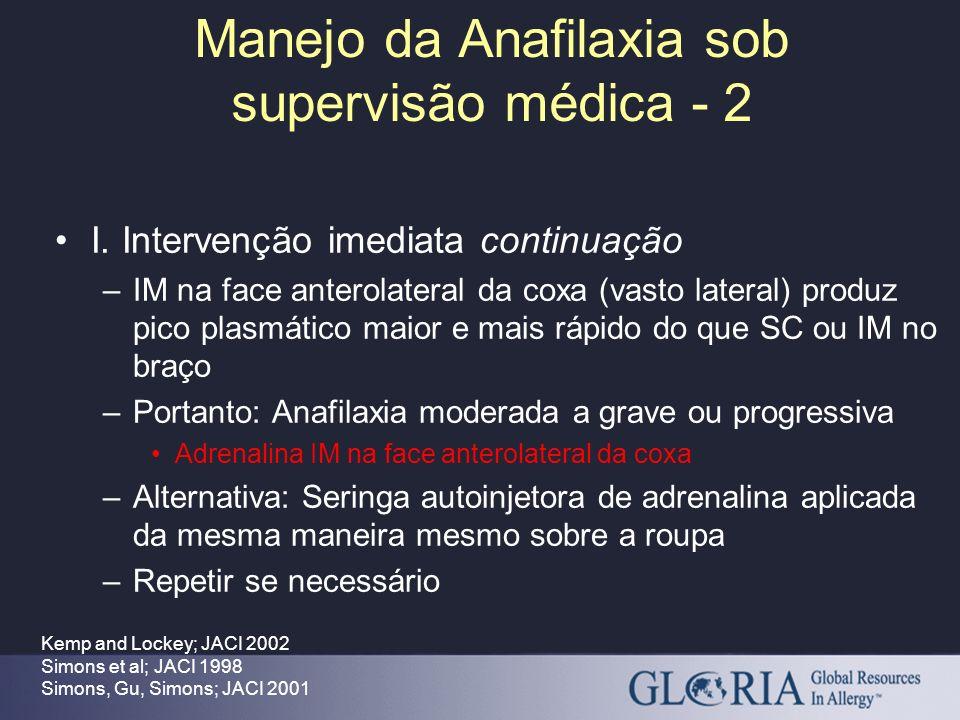 Manejo da Anafilaxia sob supervisão médica - 2