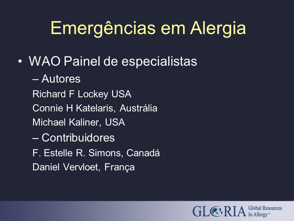 Emergências em Alergia