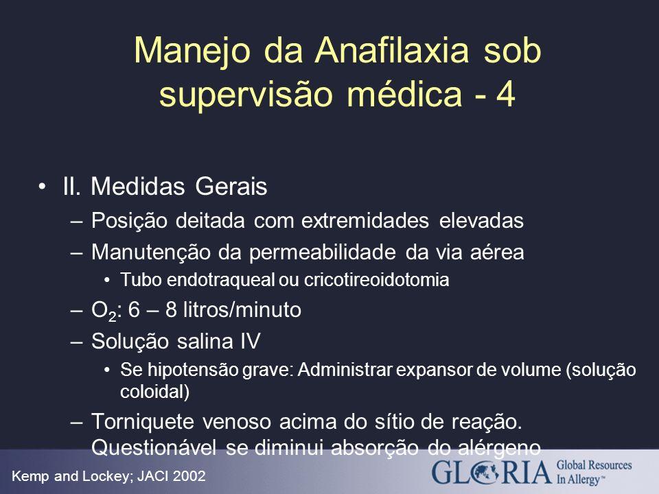 Manejo da Anafilaxia sob supervisão médica - 4