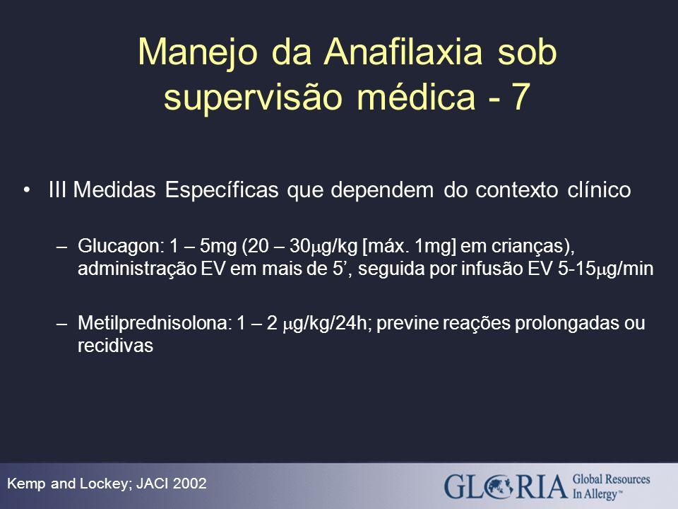 Manejo da Anafilaxia sob supervisão médica - 7