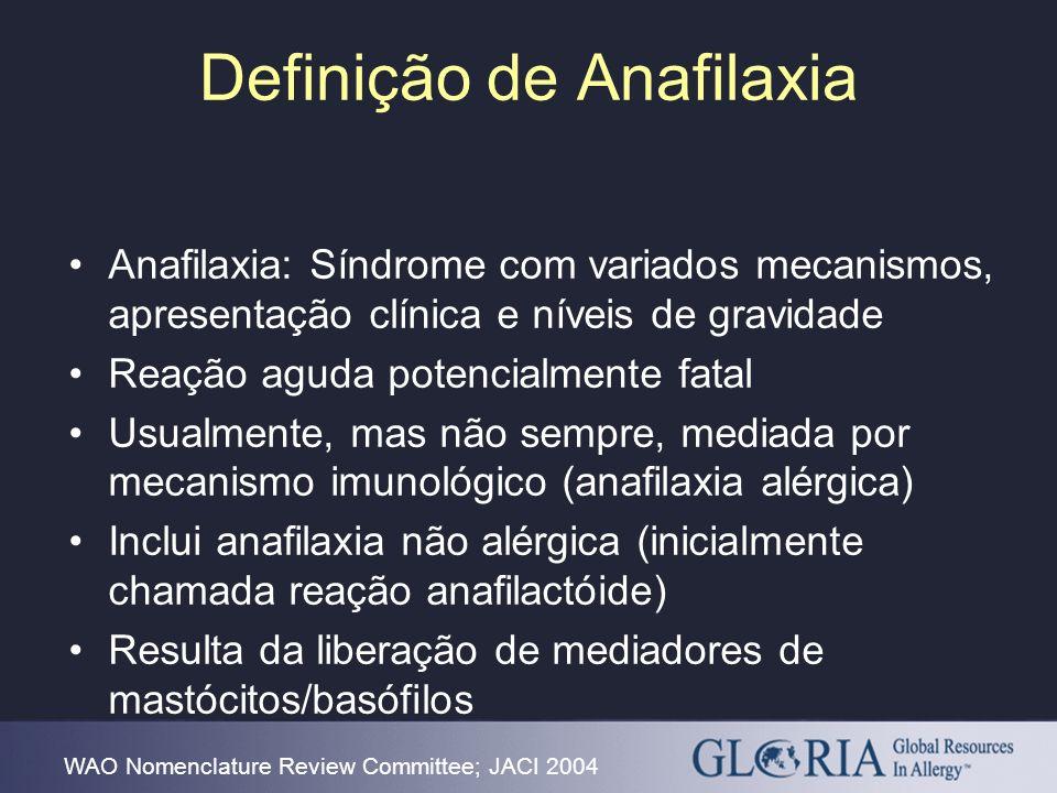 Definição de Anafilaxia