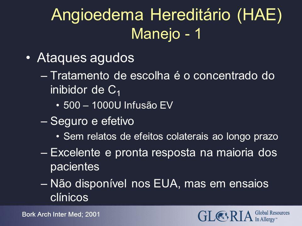 Angioedema Hereditário (HAE) Manejo - 1