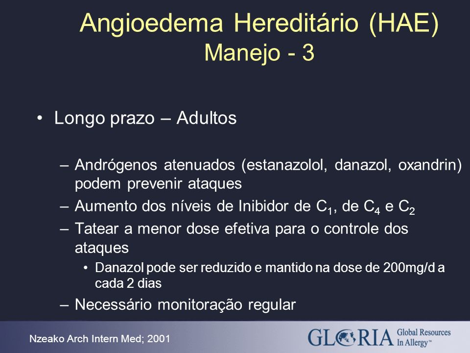 Angioedema Hereditário (HAE) Manejo - 3