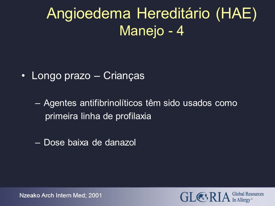 Angioedema Hereditário (HAE) Manejo - 4