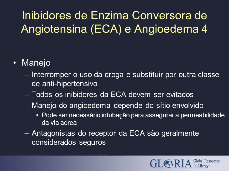 Inibidores de Enzima Conversora de Angiotensina (ECA) e Angioedema 4