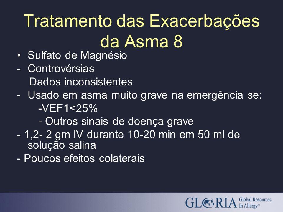 Tratamento das Exacerbações da Asma 8