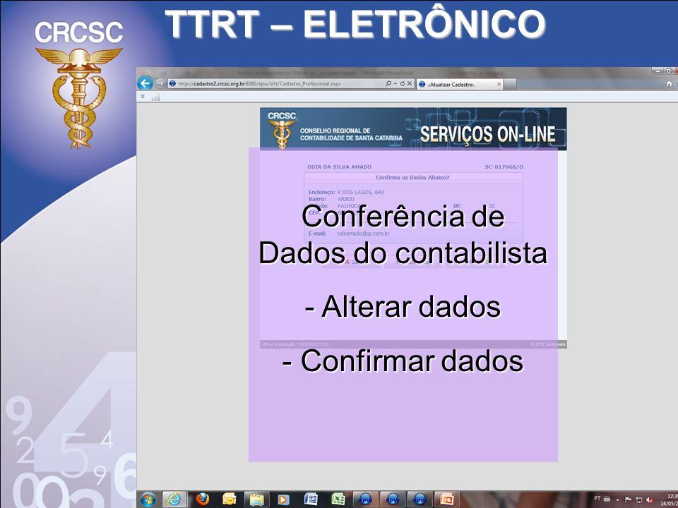 Conferência de Dados do contabilista