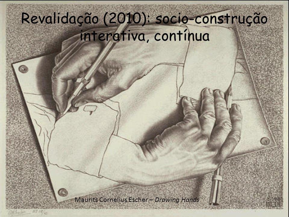 Revalidação (2010): socio-construção interativa, contínua