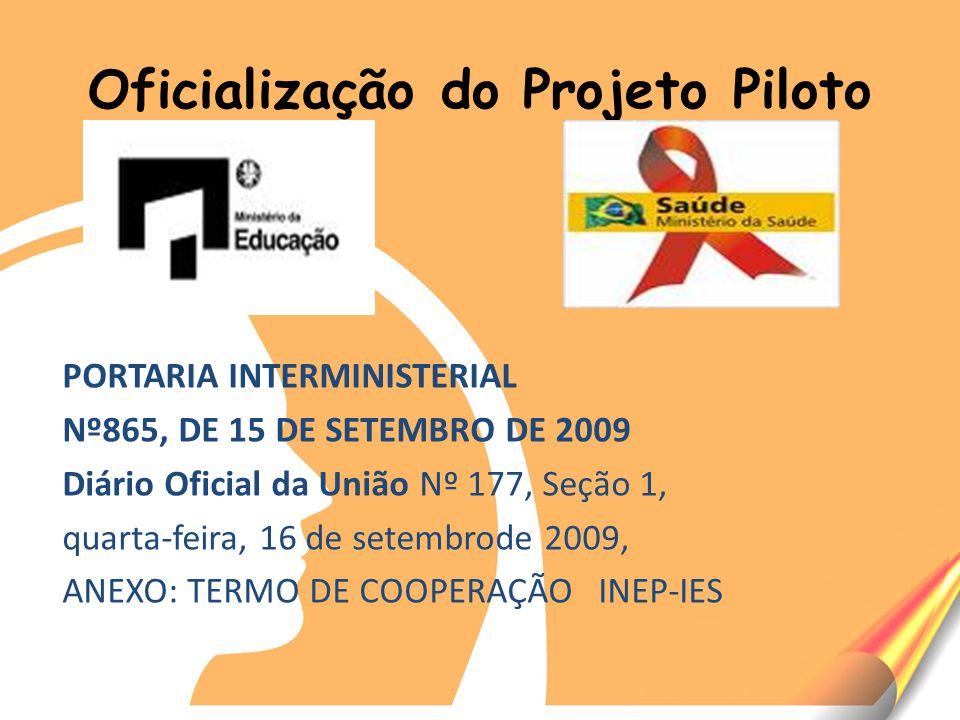Oficialização do Projeto Piloto