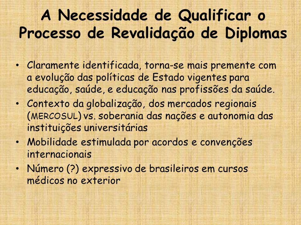 A Necessidade de Qualificar o Processo de Revalidação de Diplomas