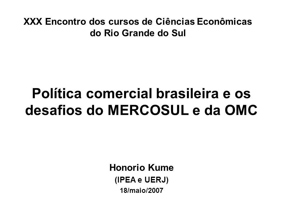 Política comercial brasileira e os desafios do MERCOSUL e da OMC