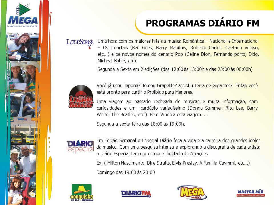 PROGRAMAS DIÁRIO FM