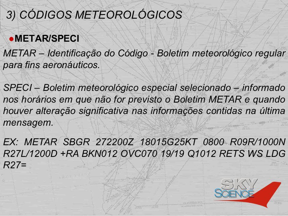 3) CÓDIGOS METEOROLÓGICOS