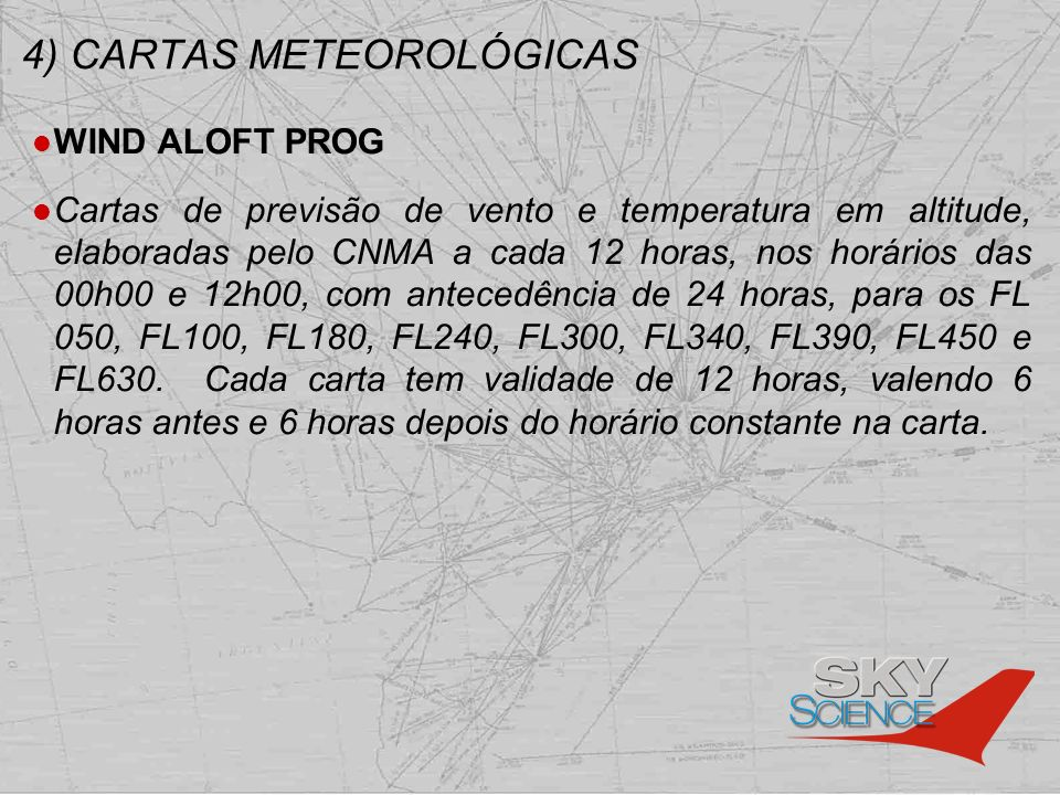 4) CARTAS METEOROLÓGICAS