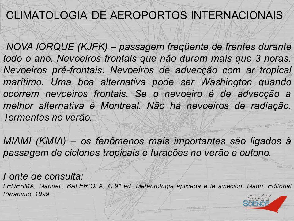 CLIMATOLOGIA DE AEROPORTOS INTERNACIONAIS