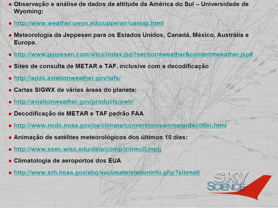 Observação e análise de dados de altitude da América do Sul – Universidade de Wyoming: