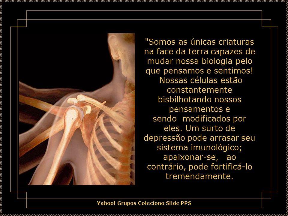Somos as únicas criaturas na face da terra capazes de mudar nossa biologia pelo que pensamos e sentimos.