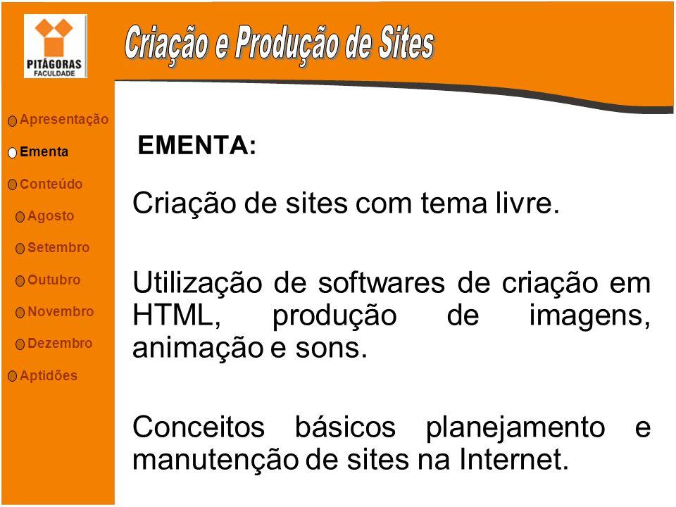 Criação e Produção de Sites