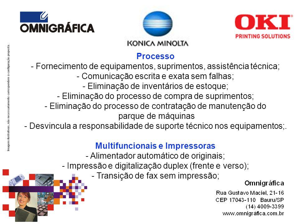Processo - Fornecimento de equipamentos, suprimentos, assistência técnica;