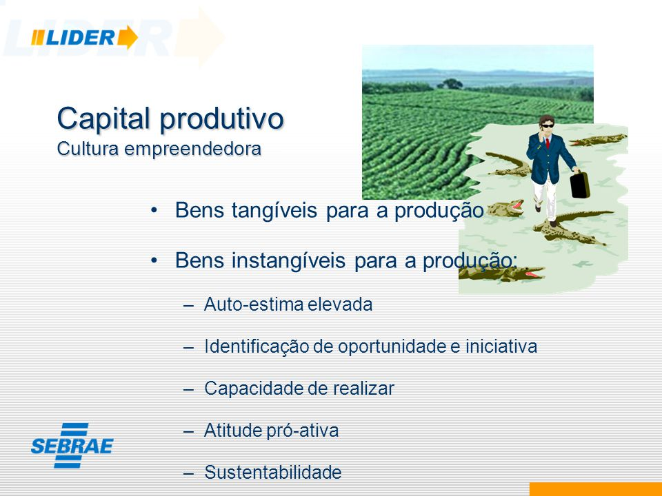 Capital produtivo Cultura empreendedora