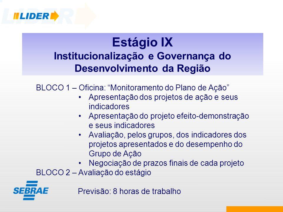 Institucionalização e Governança do Desenvolvimento da Região