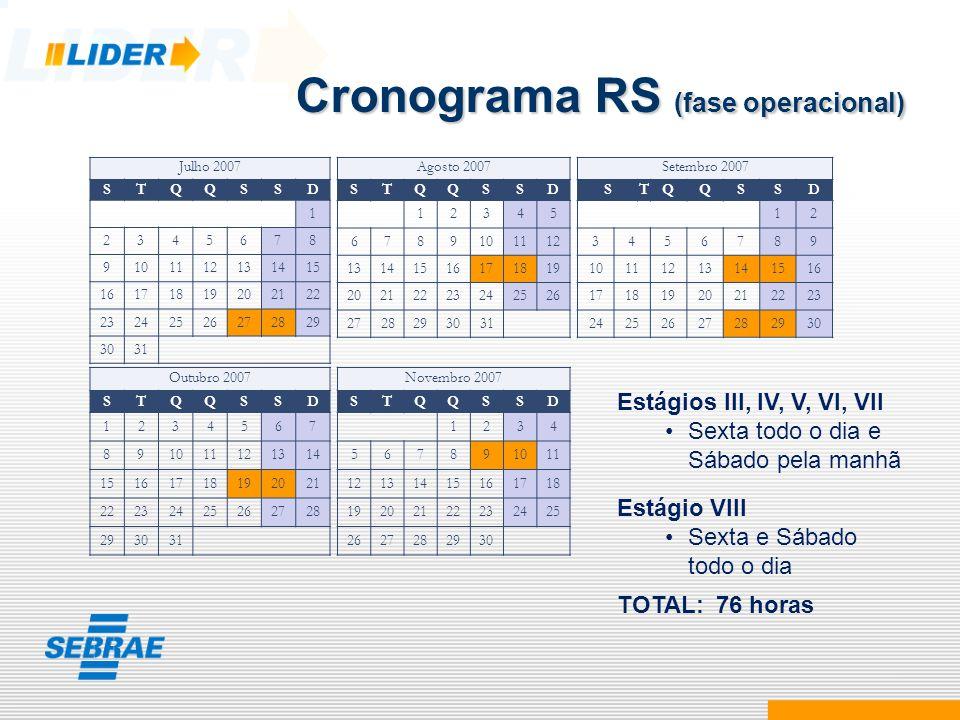 Cronograma RS (fase operacional)