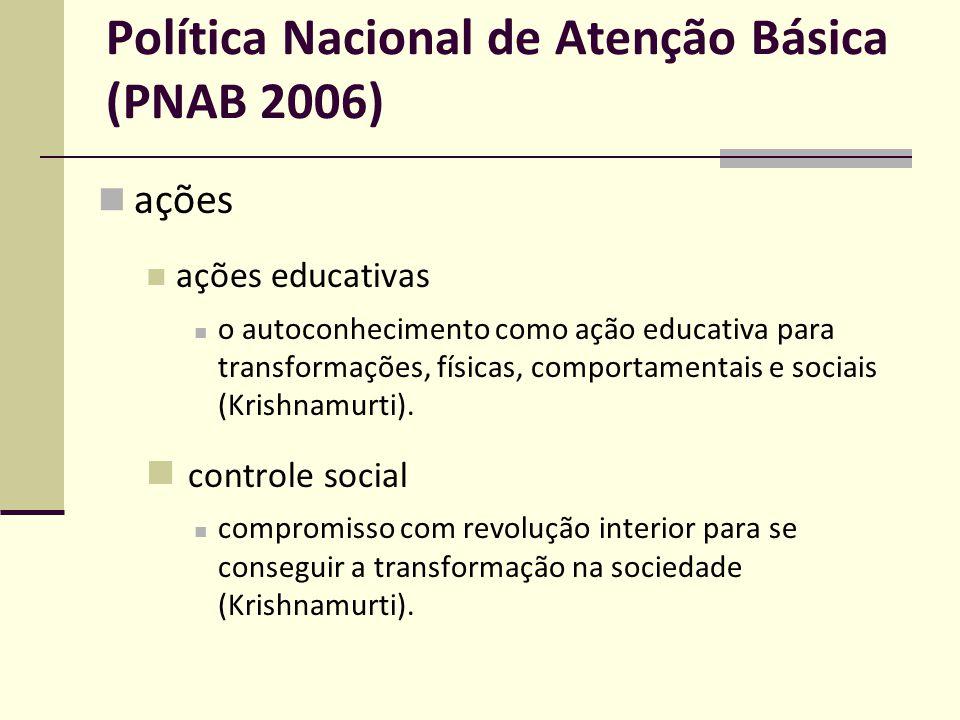 Política Nacional de Atenção Básica (PNAB 2006)