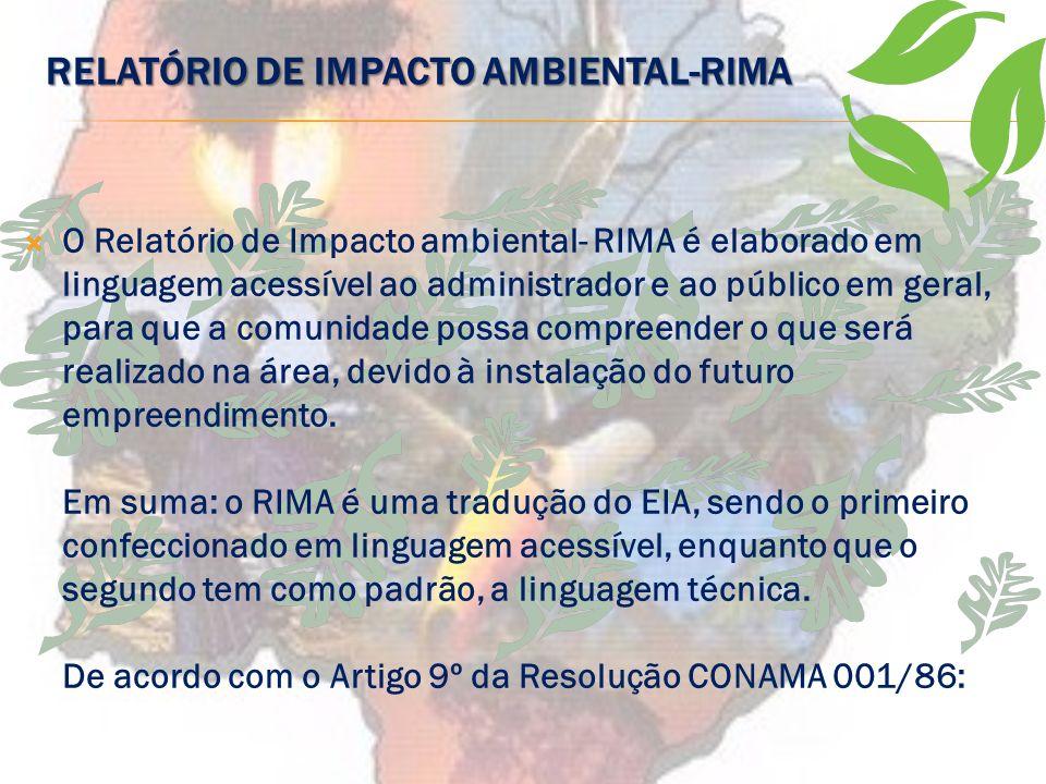 RELATÓRIO DE IMPACTO AMBIENTAL-RIMA
