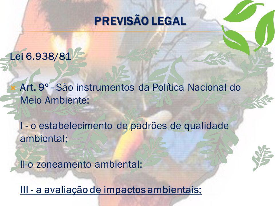 PREVISÃO LEGAL Lei 6.938/81.