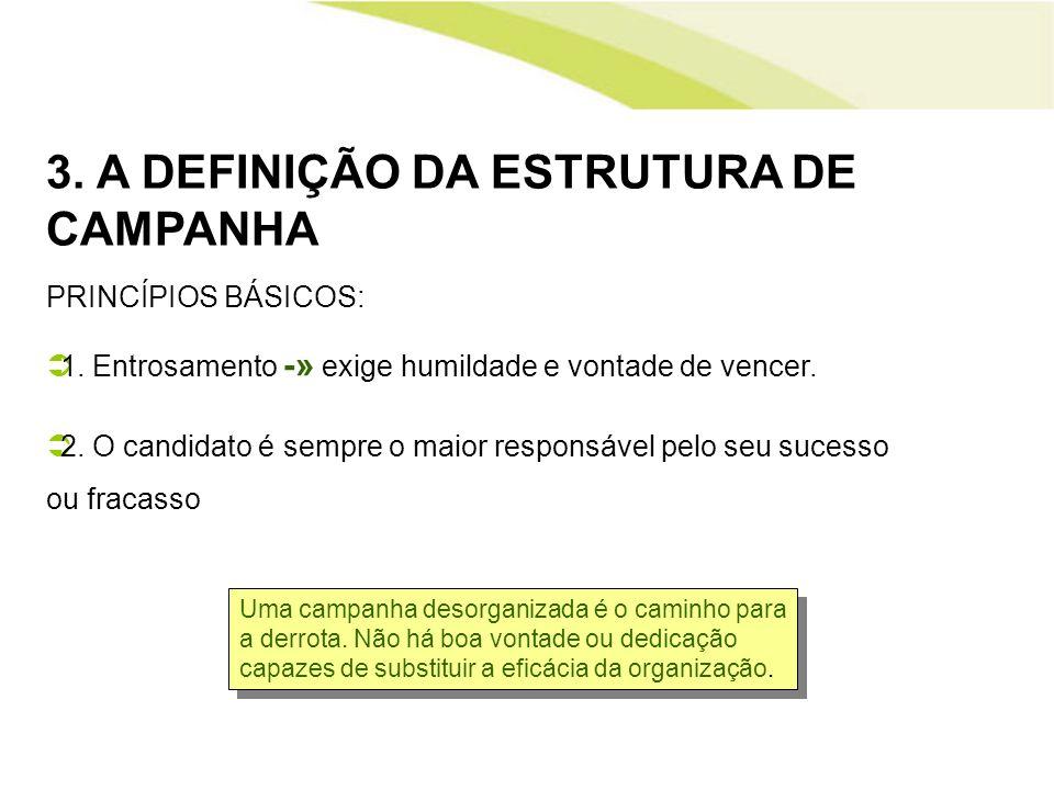3. A DEFINIÇÃO DA ESTRUTURA DE CAMPANHA
