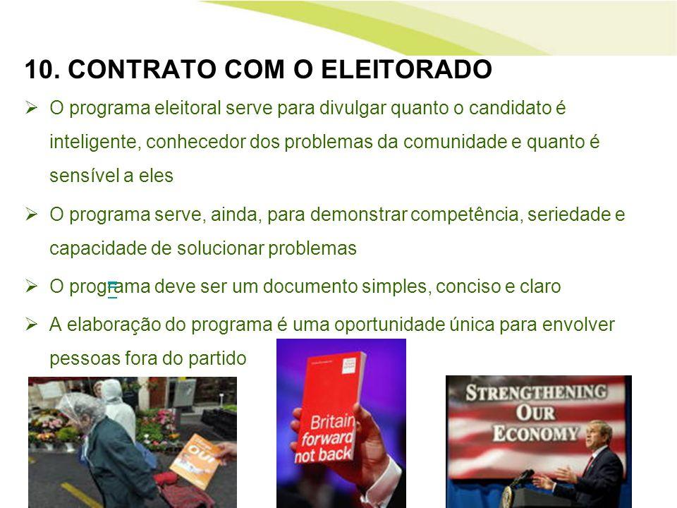 10. CONTRATO COM O ELEITORADO
