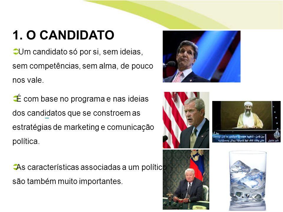 1. O CANDIDATOUm candidato só por si, sem ideias, sem competências, sem alma, de pouco nos vale.