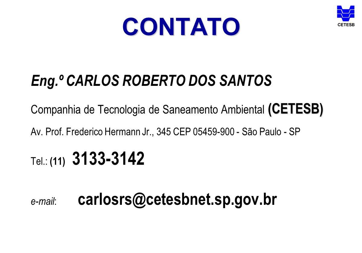 CONTATO Eng.º CARLOS ROBERTO DOS SANTOS