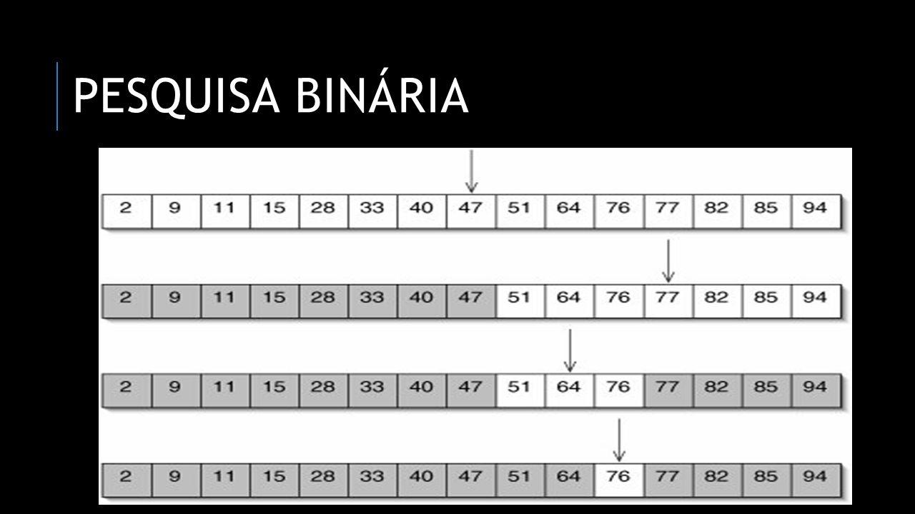 Pesquisa binária