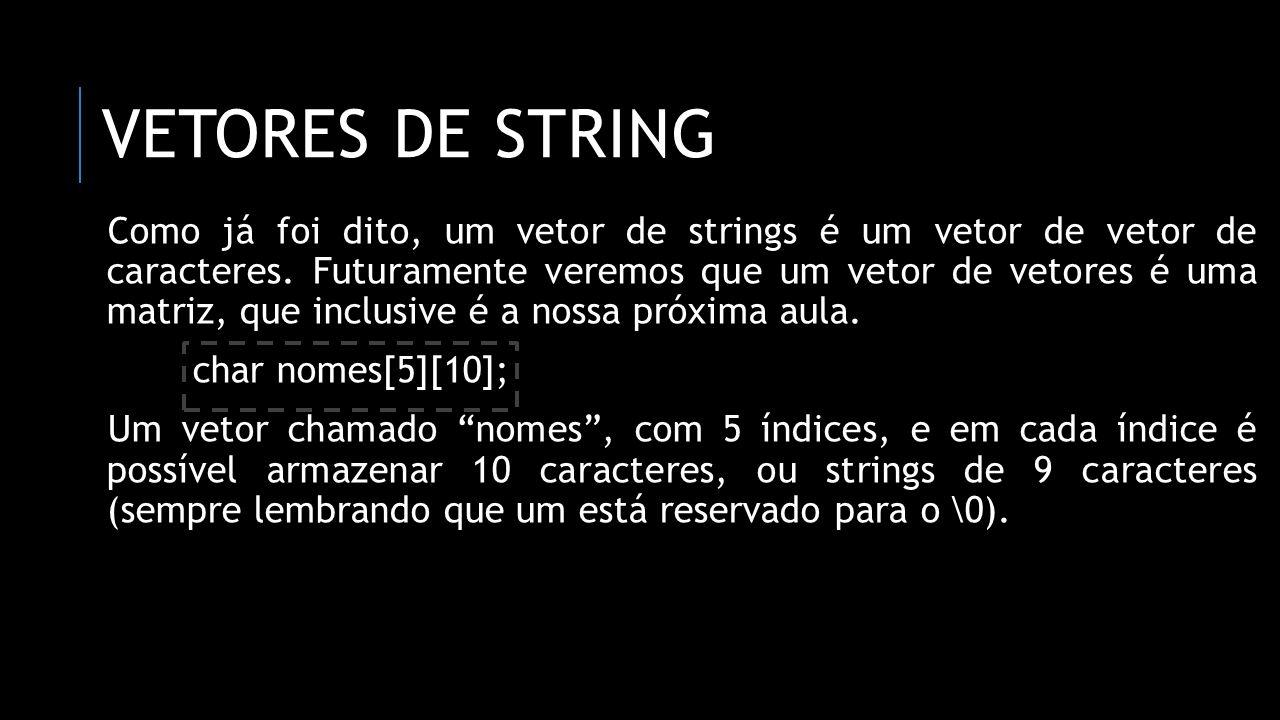 vetores de string