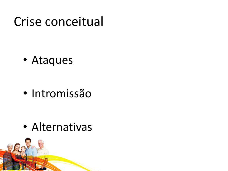 Crise conceitual Ataques Intromissão Alternativas
