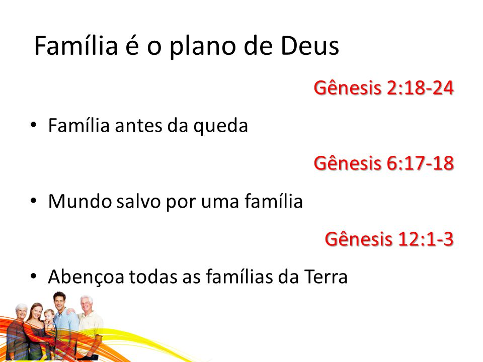 Família é o plano de Deus