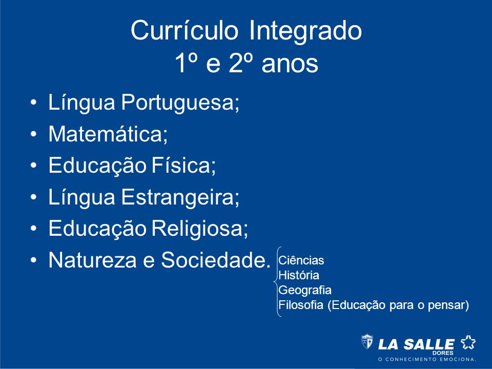 Currículo Integrado 1º e 2º anos