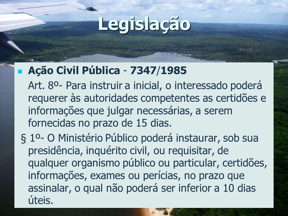 Legislação Ação Civil Pública - 7347/1985