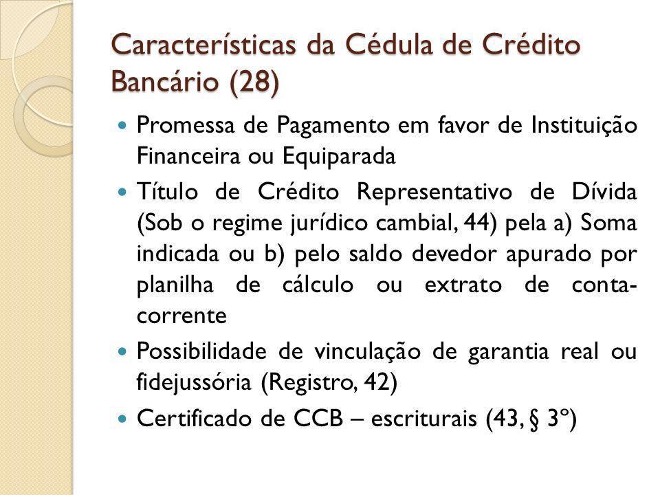 Características da Cédula de Crédito Bancário (28)
