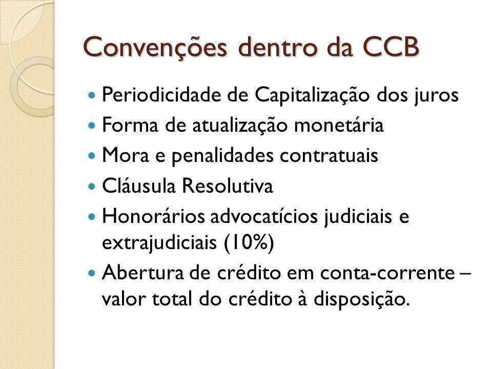 Convenções dentro da CCB