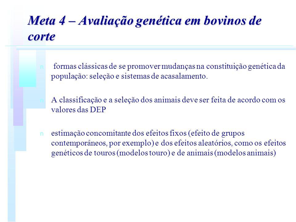 Meta 4 – Avaliação genética em bovinos de corte