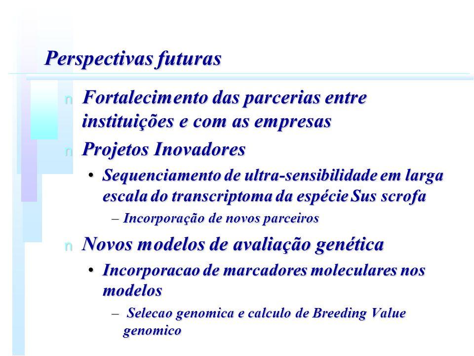 Perspectivas futuras Fortalecimento das parcerias entre instituições e com as empresas. Projetos Inovadores.