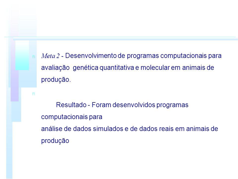 Meta 2 - Desenvolvimento de programas computacionais para avaliação genética quantitativa e molecular em animais de produção.