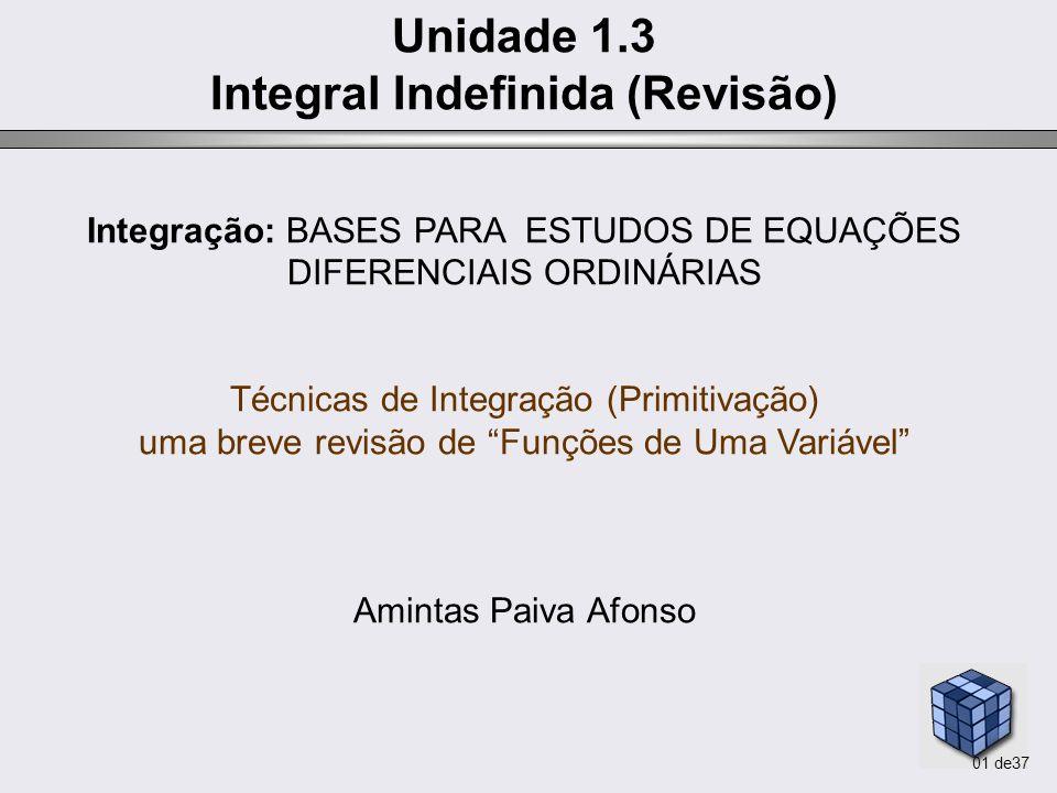 Integral Indefinida (Revisão)