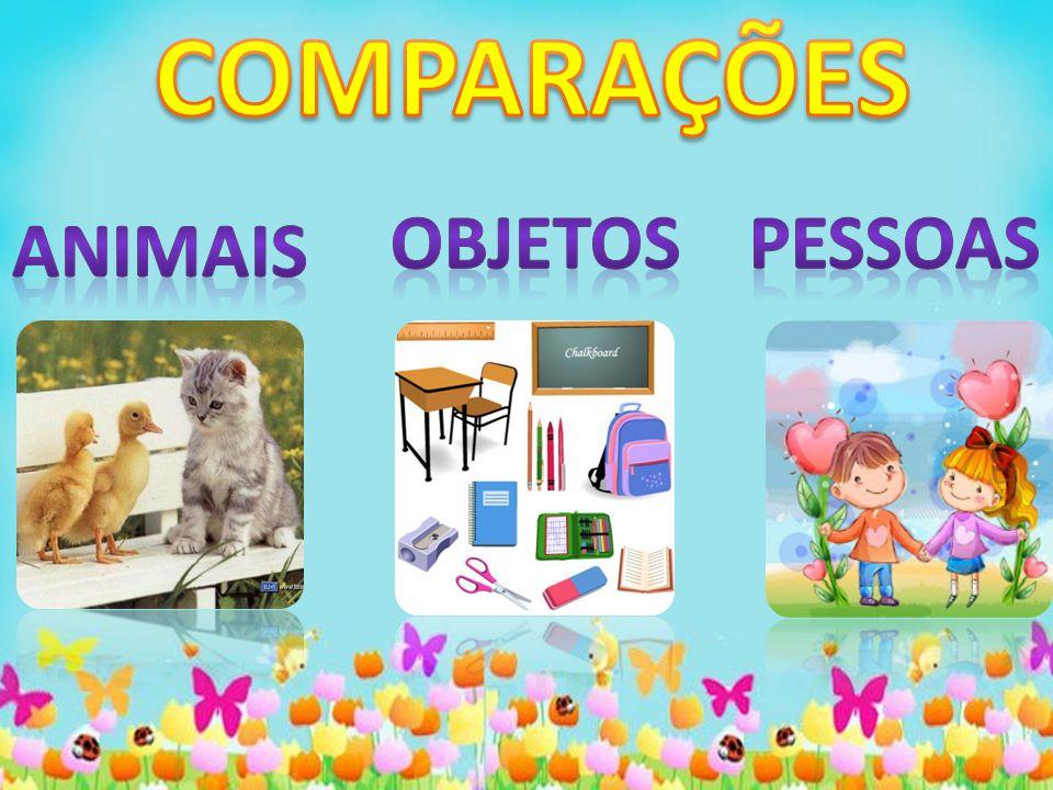 COMPARAÇÕES OBJETOS PESSOAS ANIMAIS