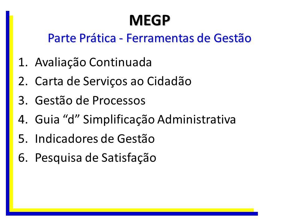 MEGP Parte Prática - Ferramentas de Gestão